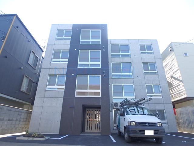 北海道札幌市西区、発寒中央駅徒歩8分の新築 4階建の賃貸マンション