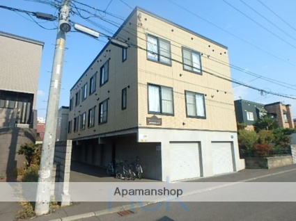 北海道札幌市東区、新道東駅徒歩15分の築12年 3階建の賃貸アパート