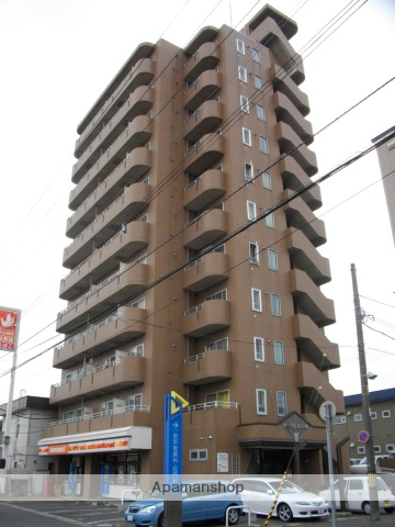 北海道札幌市北区、新琴似駅中央バスバス11分北27西5下車後徒歩6分の築19年 11階建の賃貸マンション