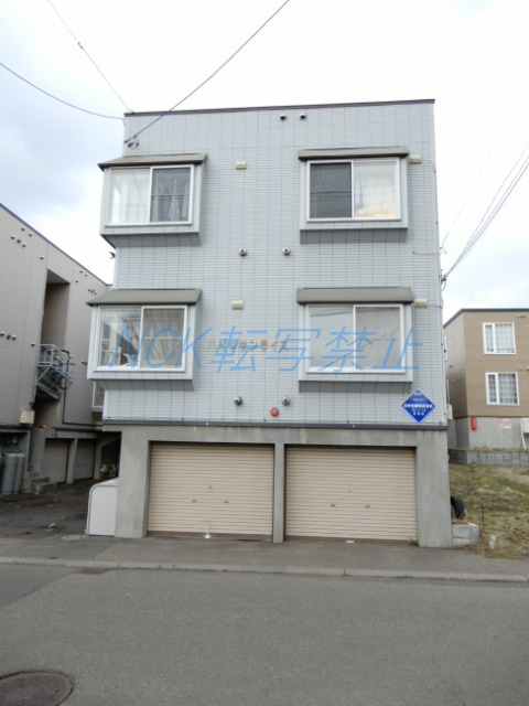 北海道札幌市東区、東区役所前駅徒歩7分の築23年 3階建の賃貸アパート