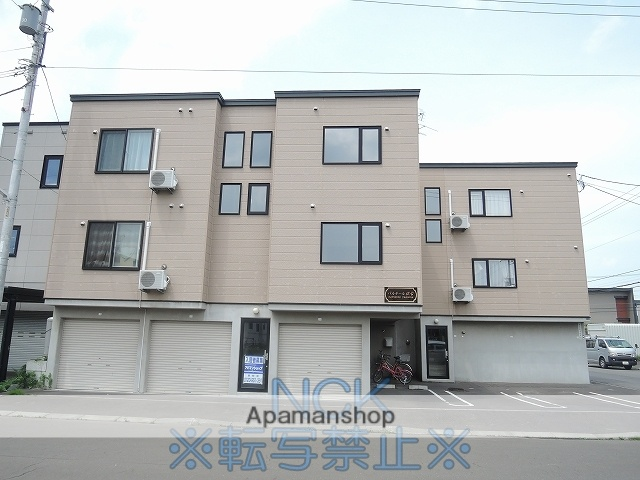 北海道札幌市東区、元町駅中央バスバス9分伏古10−2下車後徒歩3分の築9年 3階建の賃貸アパート