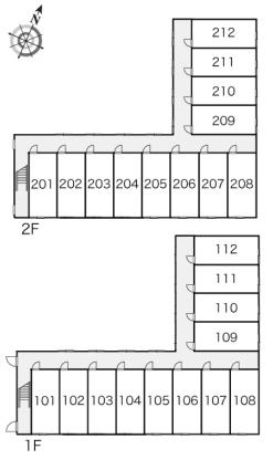 レオパレスシャルム[1K/23.18m2]の配置図