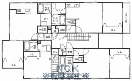 シャルム宮の沢[1DK/35.04m2]の配置図
