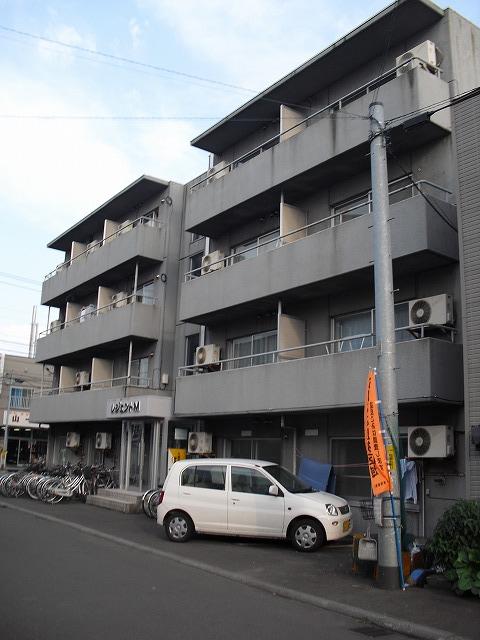 北海道札幌市豊平区、平岸駅徒歩12分の築30年 4階建の賃貸マンション