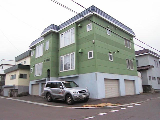 北海道札幌市東区、太平駅徒歩12分の築25年 3階建の賃貸アパート