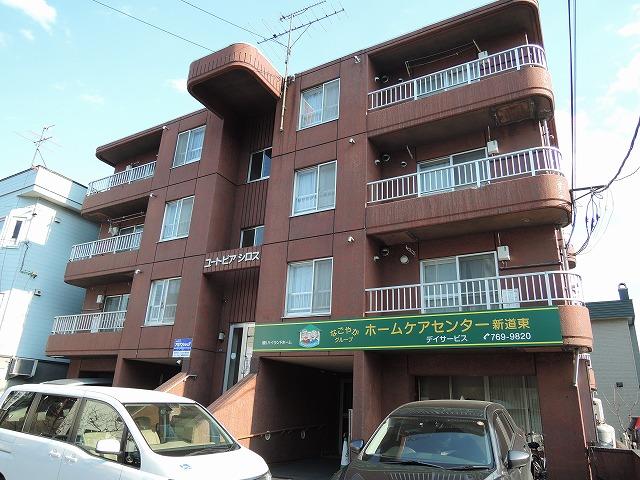 北海道札幌市東区、新道東駅徒歩4分の築29年 4階建の賃貸マンション