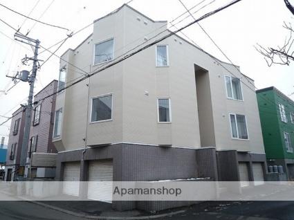 北海道札幌市東区、環状通東駅徒歩10分の築25年 3階建の賃貸アパート
