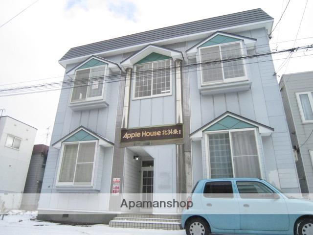北海道札幌市北区、北34条駅徒歩15分の築28年 2階建の賃貸アパート