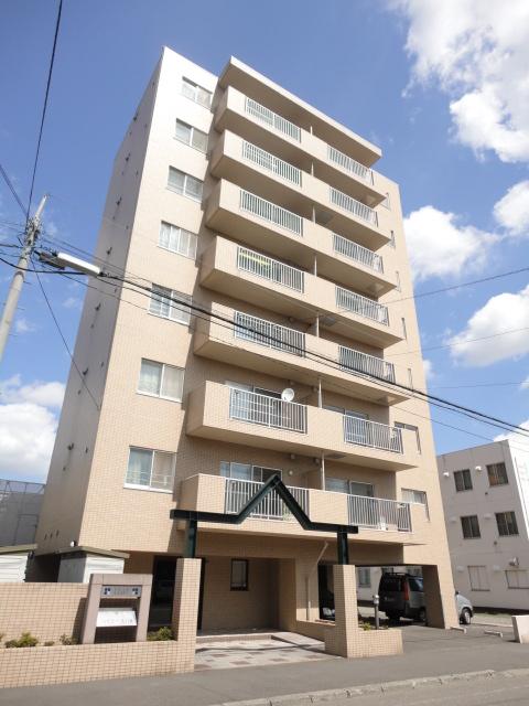 北海道札幌市東区、環状通東駅徒歩12分の築22年 8階建の賃貸マンション