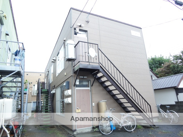 北海道札幌市西区、琴似駅徒歩7分の築30年 2階建の賃貸アパート