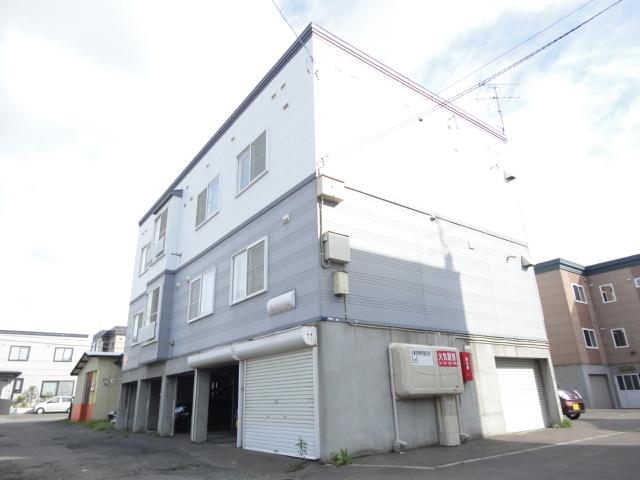 北海道札幌市西区、琴似駅JR北海道バスバス12分北24条西16丁目下車後徒歩3分の築24年 3階建の賃貸アパート
