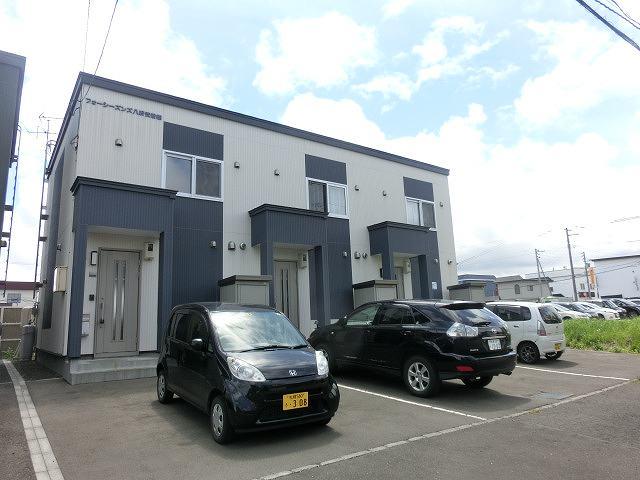 北海道札幌市西区、発寒駅中央バスバス22分第三横線下車後徒歩3分の築8年 2階建の賃貸テラスハウス