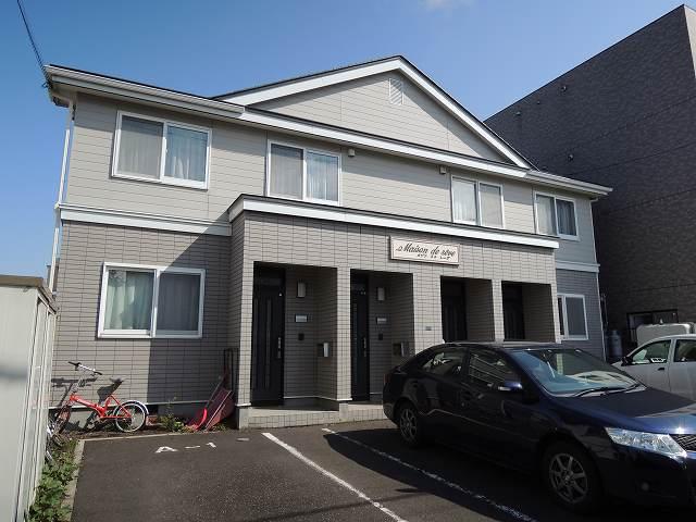 北海道札幌市西区、発寒駅徒歩15分の築18年 2階建の賃貸アパート
