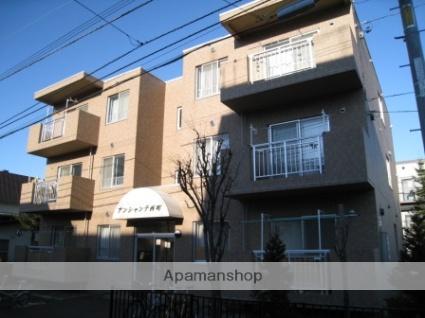 北海道札幌市西区、発寒南駅徒歩5分の築23年 3階建の賃貸マンション