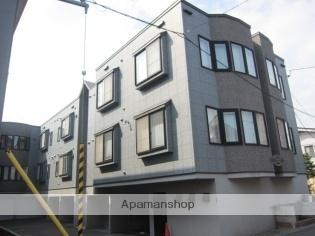 北海道札幌市西区、琴似駅徒歩19分の築17年 3階建の賃貸アパート