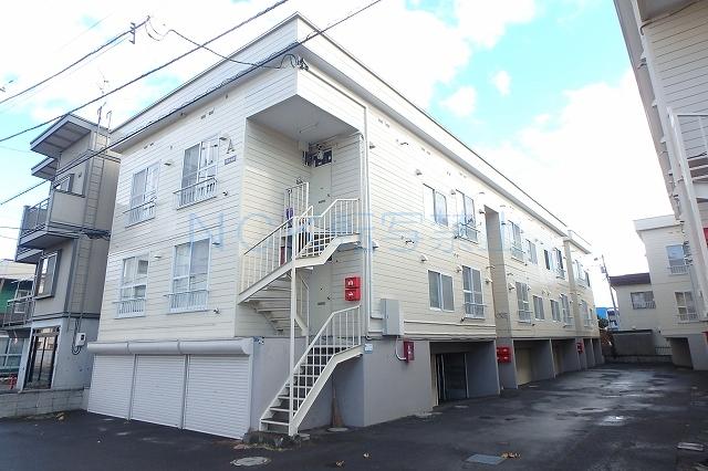 北海道札幌市西区、琴似駅徒歩7分の築33年 3階建の賃貸アパート