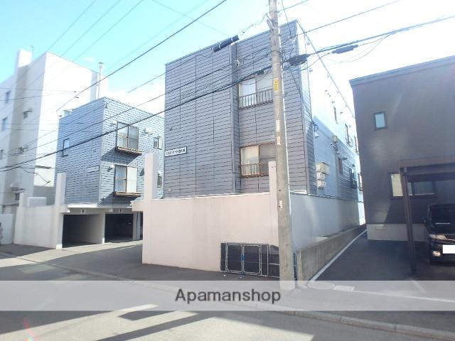 北海道札幌市西区、宮の沢駅徒歩15分の築28年 3階建の賃貸アパート
