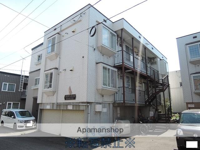 北海道札幌市西区、琴似駅徒歩10分の築25年 3階建の賃貸アパート