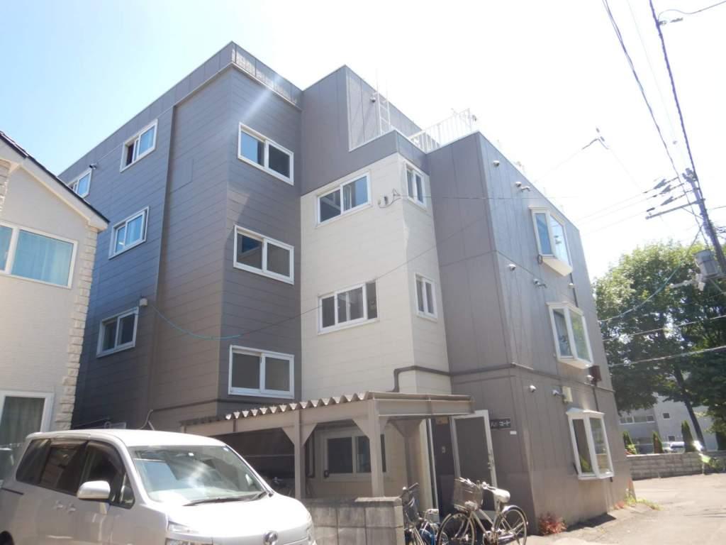 北海道札幌市北区、新川駅徒歩15分の築29年 4階建の賃貸マンション