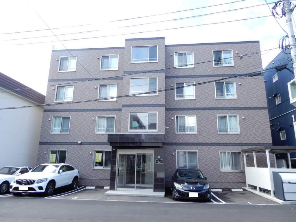 北海道札幌市西区、琴似駅徒歩12分の新築 4階建の賃貸マンション