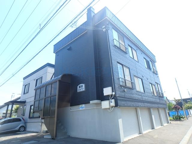 北海道札幌市西区、八軒駅徒歩6分の築33年 3階建の賃貸アパート