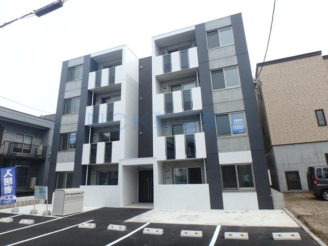 北海道札幌市西区、八軒駅徒歩6分の新築 4階建の賃貸マンション