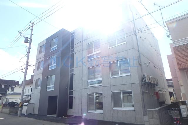 北海道札幌市西区、琴似駅徒歩7分の新築 4階建の賃貸マンション