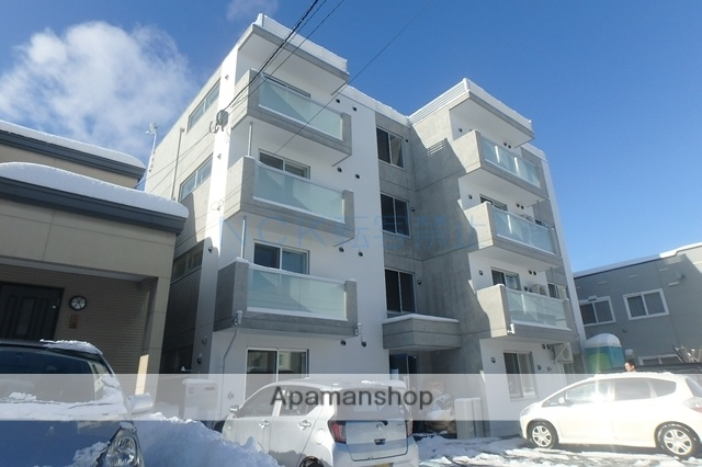 北海道札幌市西区、琴似駅徒歩13分の新築 4階建の賃貸マンション