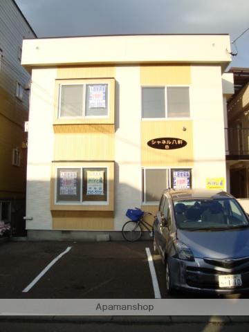 北海道札幌市西区、琴似駅徒歩20分の築30年 2階建の賃貸アパート