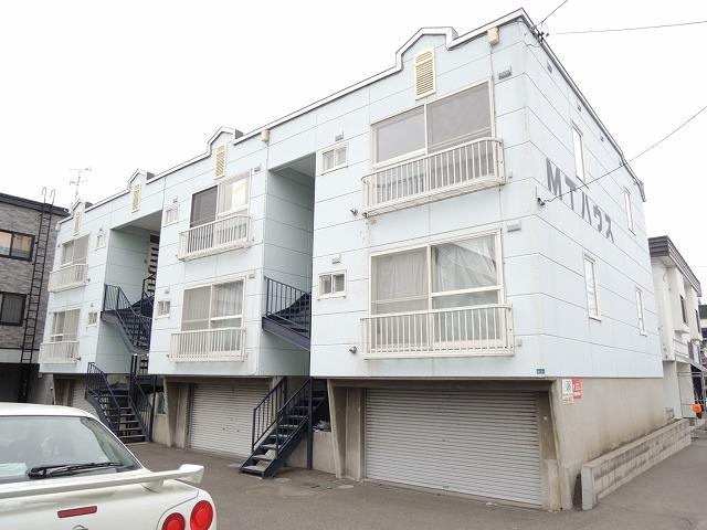 北海道札幌市西区、発寒南駅徒歩39分の築27年 3階建の賃貸アパート