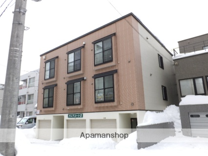 北海道札幌市東区、麻生駅徒歩19分の築13年 3階建の賃貸アパート