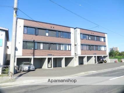 北海道札幌市北区、篠路駅徒歩16分の築8年 3階建の賃貸アパート
