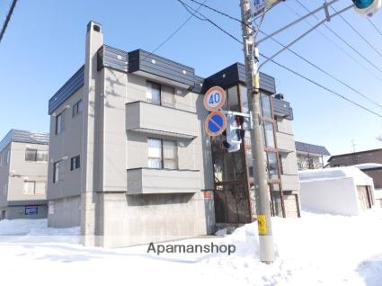 北海道札幌市北区、篠路駅徒歩14分の築36年 3階建の賃貸アパート