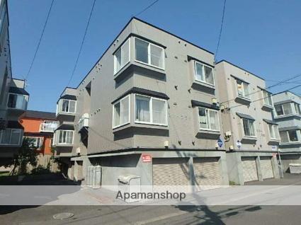 北海道札幌市東区、環状通東駅徒歩14分の築22年 3階建の賃貸アパート