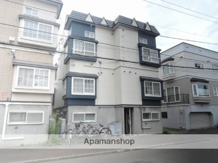 北海道札幌市東区、栄町駅徒歩7分の築25年 3階建の賃貸アパート