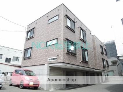 北海道札幌市東区、栄町駅徒歩6分の築12年 3階建の賃貸アパート