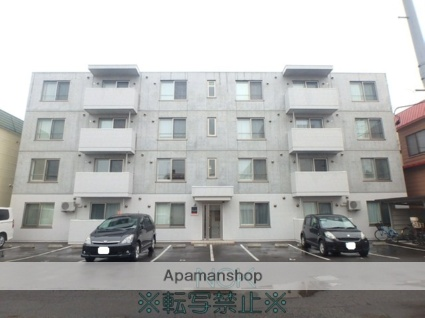 北海道札幌市東区、環状通東駅徒歩15分の築4年 4階建の賃貸マンション