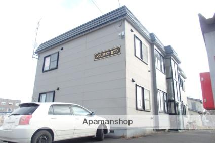 北海道石狩市、手稲駅中央バスバス29分花畔中央下車後徒歩2分の築18年 2階建の賃貸アパート