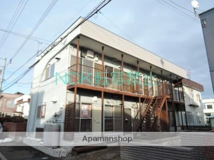 北海道札幌市北区、百合が原駅徒歩13分の築35年 2階建の賃貸アパート