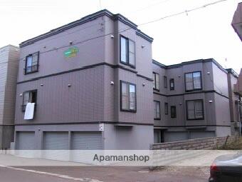 北海道札幌市北区、新琴似駅徒歩19分の築19年 3階建の賃貸アパート