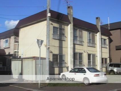 北海道札幌市北区、篠路駅徒歩18分の築37年 2階建の賃貸アパート