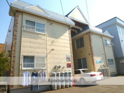 北海道札幌市東区、北34条駅中央バスバス10分新道東下車後徒歩5分の築27年 2階建の賃貸アパート