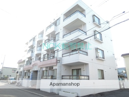 北海道札幌市東区、新道東駅徒歩4分の築26年 4階建の賃貸マンション