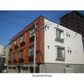 北海道札幌市北区、新琴似駅徒歩9分の築30年 3階建の賃貸アパート