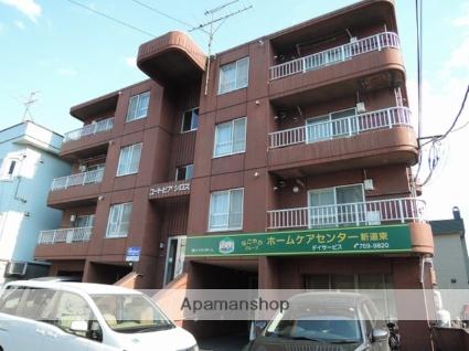 北海道札幌市東区、新道東駅徒歩4分の築31年 4階建の賃貸マンション