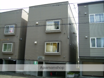 北海道札幌市東区、新道東駅徒歩10分の築21年 3階建の賃貸アパート