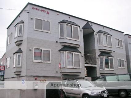 北海道石狩市、手稲駅中央バスバス13分花川南8−3下車後徒歩7分の築24年 3階建の賃貸アパート