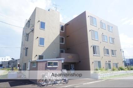 北海道石狩市、麻生駅中央バスバス22分花川北6−3下車後徒歩1分の築9年 4階建の賃貸マンション