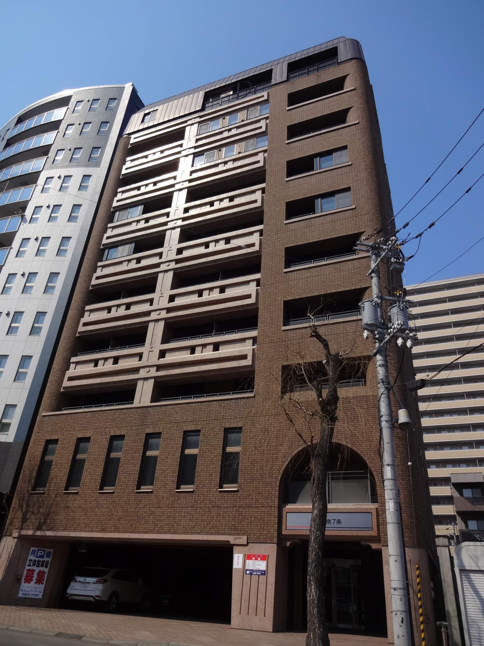 北海道札幌市中央区、すすきの駅徒歩9分の築19年 10階建の賃貸マンション