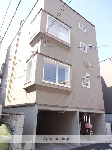 北海道札幌市中央区、二十四軒駅徒歩6分の築22年 3階建の賃貸アパート